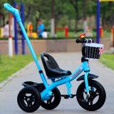 De nieuwe Driewieler van de Jonge geitjes van het Ontwerp Goedkope met de Staaf van de Duw/de Plastic Driewieler van Kinderen