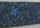 磨かれた自然で青い真珠の花こう岩