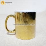 Tazas de café de cerámica de la pintura metálica del final del metal