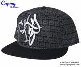 Logotipo plana Bordados Snapback Cap Hat