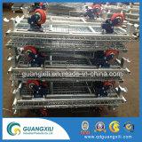 Metal de qualidade superior do recipiente de malha de arame tipo penduradas com Rodas