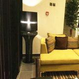 Lampada di pavimento diritta del Organza della tonalità nera del tessuto per il progetto dell'hotel