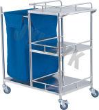 Carrinho de aço inoxidável para confecção Bed & a Enfermagem