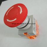 Y090 Botón pulsador de emergencia de plástico