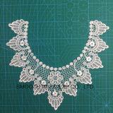 Accessori dell'indumento del collare del merletto del ricamo del fiore della tessile del tessuto di cotone di modo