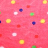 Super weiche gedruckte Flanell-Zudecke-korallenrote Vlies-Zudecke