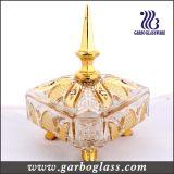 金ガラスキャンデーの瓶かガラスの瓶のめっき