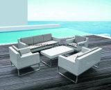 Для отдыхающих плетеной мебели плетеной сад диван с металлической опоры