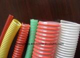 Espiral de PVC reforzado del tubo flexible de aspiración de la extrusora