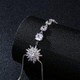 Cadeia de mão Gemstone Zircon criativa Bijoux Bracelete Zircon Acessório