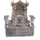 Fontana di acqua esterna di pietra della natura, fontana di marmo della parete per il giardino