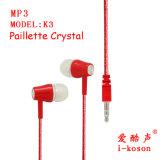 Getelegrafeerde Universele Hifi het in-oorOortelefoon van het Ontwerp van de Orde voor MP3/MP4