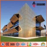 Afrikaanse Ideabond 4mm die PVDF het Externe Bekledingspaneel van de Muur van het Aluminium Met een laag bedekken