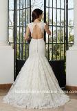 Крышка Sleeves платье венчания G17286 Mermaid шнурка Bridal мантий шнурка выполненное на заказ полное