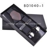 Haute qualité Bretelles élastiques en cuir véritable cadeau pour les hommes