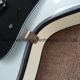 Corpo oco Jazz preta guitarra eléctrica com encadernação preta (TJ-317)