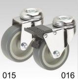 Graue Copolymer-Rad-Schwenker-Loch-Oberseite-Fußrolle