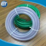 Reforçado em PVC trançado de fibra transparente a mangueira de água / Tubos / tubos
