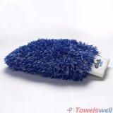 Вышитая перчатка мытья автомобиля плюша Microfiber