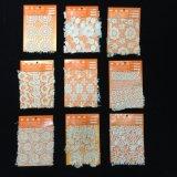 Graciosa Lace Eyelash Marfim tecido de malha de Casamento Floral Suite Fabric Rendas recortado