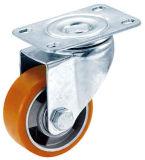 3-4 Zoll PU auf Aluminiumkern-Schwenker-Fußrolle