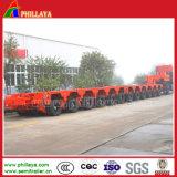 Reboque rodado pesado do transporte da maquinaria de construção Semi
