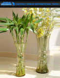 Vaso di vetro colorato della cristalleria di bellezza per la decorazione domestica