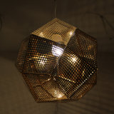 Chinese Supplier Hotel Decorativo Golden Polygon Pendant Lamp