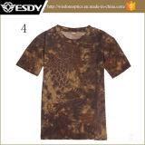 T-shirt rond de chemise de circuit de collet de Rapide-Séchage respirable extérieur