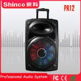 Shinco 12'' colunas portáteis Bluetooth Carrinho de Karaoke