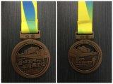 2018 de Promotie Zilveren Medaille van het Metaal van de Toekenning met Zwart Lint