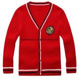 男女兼用の長い袖のセーターのカーディガンの学校の摩耗のカーディガンのセーターのカーディガン