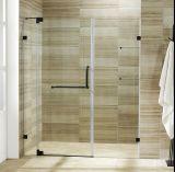 Porta nova do chuveiro de Frameless da vista para o banheiro