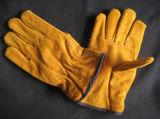 Работа Glove-9211 водителя вкладыша Джерси Split кожи коровы
