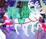 Impermeable al aire libre del LED 3D de los ciervos con motivos de luz animal de la Navidad