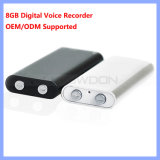 Wereld Smallest 8GB Professional Digital Voice Recorder met MP3 OEM Logo van Player Support
