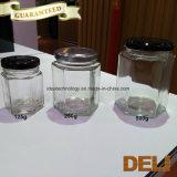 I prodotti di Hotsale hanno impresso i vasi di vetro liberi con la clip del metallo