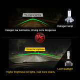 lúmen elevado 40W H4 9004 de 6000K IP67 9007 bulbos do diodo emissor de luz do ventilador H13 auto