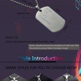 Edelstahlmens-hängende Anker-Anmerkungs-Querrasierschaufel-Halskette