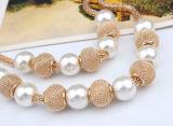 Trendy Halsband van de Tegenhanger van de Bal van de Parel van de Lagen van Juwelen Imitatie
