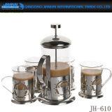 熱い販売のホーム装飾の耐熱性ガラスコーヒー茶鍋