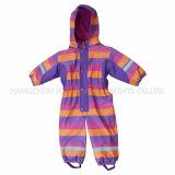 ChildrenのためのPU Stripe Conjoined RaincoatかOverall