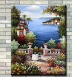 Handmade-Покрашенная картина ландшафта картины маслом среднеземноморская