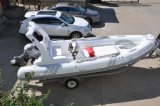 Barco do PVC Inflotable da casca da fibra de vidro do reforço
