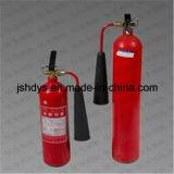 Extintor de incêndio inferior côncavo do CO2 do aço de liga da alta pressão 5kg (cilindro: EN1964-1)