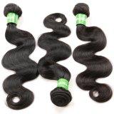 peluca el 100% brasileña hecha a mano pura del pelo humano 7A