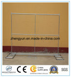 Сетка панель загородки конструкции звена цепи 60mm x 60mm временно