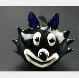 Schwarzes Glaswasser-Rohr des Smiley Gesichtes Glasgefäß formend