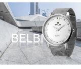Belbi simple hommes 's business Altra mince montres en acier avec étanche montre analogique