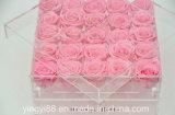 Cadre carré acrylique imperméable à l'eau clair fait sur commande de Rose